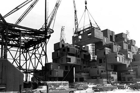 habitat 67 construction The Habitat 67 Residences by Moshe Safdie   Montreal, Canada