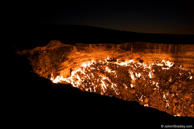 door to hell turkmenistan The Door to Hell: Flaming Crater in Turkmenistan Has Been Burning for 38 Years