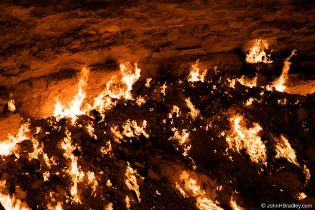 flaming crater derweze The Door to Hell: Flaming Crater in Turkmenistan Has Been Burning for 38 Years