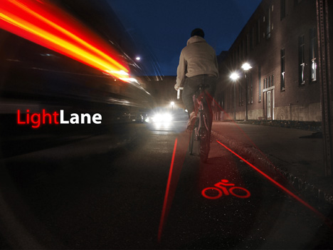lightlane The LightLane: If You Bike at Night, Consider This Light