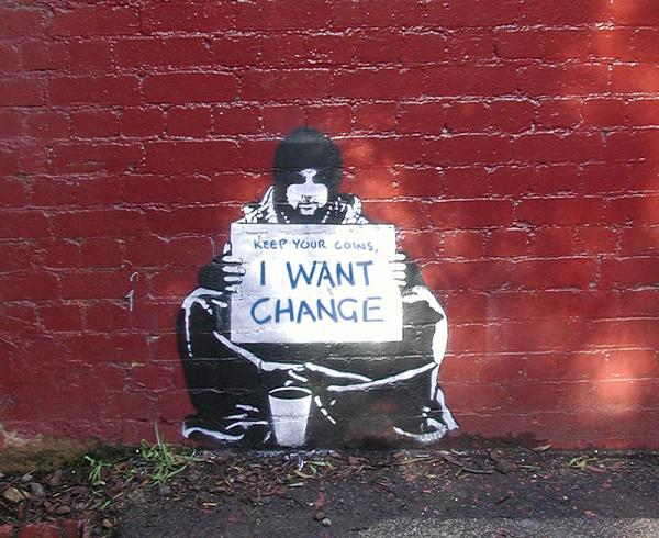 meek begging for change Street Artist Meek | Excellence in Stencil Graffiti