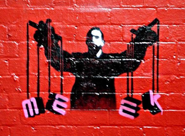 meek puppet Street Artist Meek   Excellence in Stencil Graffiti