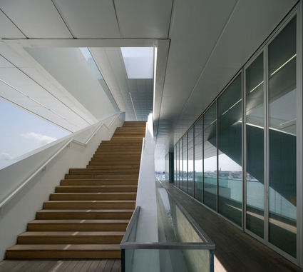 americas building staircase Waterfront Viewing   Americas Cup Building Veles e Vents | Valencia, Spain