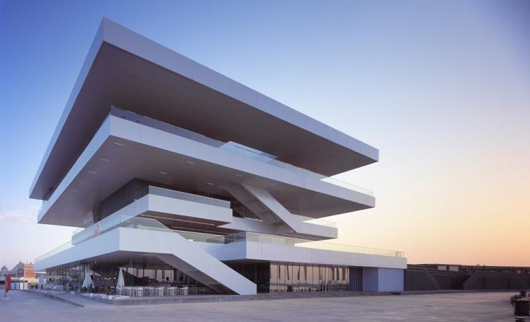 Waterfront Viewing – America's Cup Building 'Veles e Vents' | Valencia, Spain