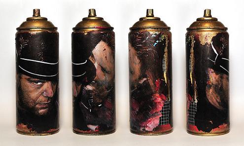 asbestos spray cans maelstorm Street Art by Asbestos   Master of Mixed Media