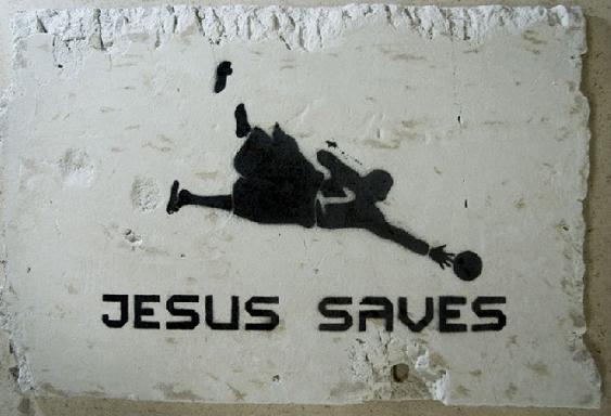 asbestos stencil art jesus saves Street Art by Asbestos   Master of Mixed Media