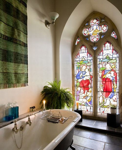 church conversion bathroom Holy Conversion: Church from 1790s Renovated and Restored