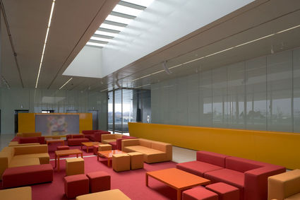 veles e vents interior americas cup building Waterfront Viewing   Americas Cup Building Veles e Vents | Valencia, Spain