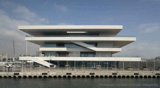 veles e vents valencia spain Waterfront Viewing   Americas Cup Building Veles e Vents | Valencia, Spain