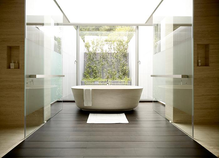 55 blair road singapore en suite bathtub overlooking pool An Elegant Solution To A Long And Narrow Space