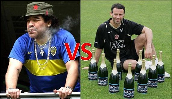 diego maradona and ryan giggs One Man Shows in Team Sports