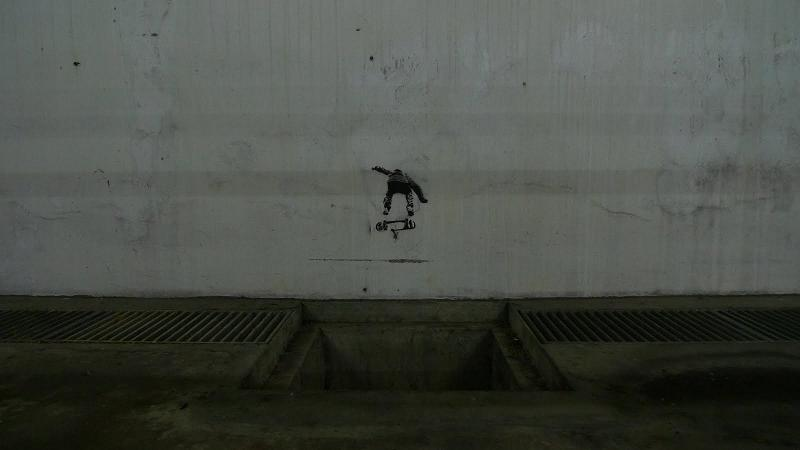 ollie the gap Well Placed Stencil Skaters by TR853 1 (Trase 1)