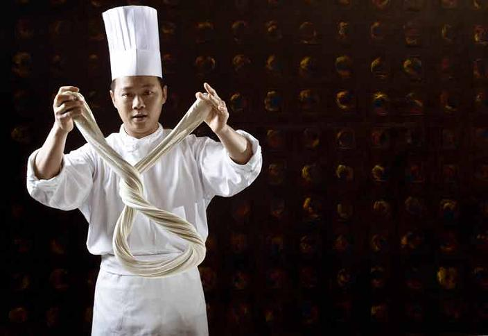 chef makes handmade noodle la mian hand pulled La Mian   The Ancient Art of Chinese Noodle Making
