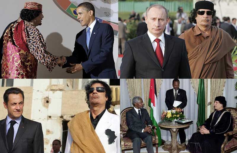 gadaffi meets with obama putin mandela sarkozy The Best Dressed Politician in the World
