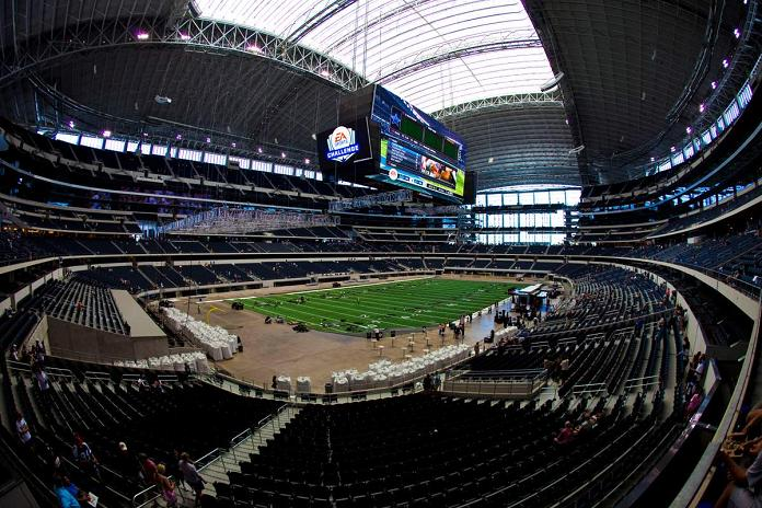 inside new dallas cowboys stadium arlington texas What Costs $1.3 Billion, Holds 111,000 people and Has the Worlds Biggest TV?