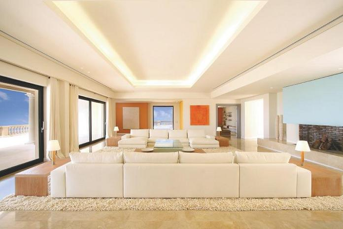 luxury property living room mallorca spain What Does A $72.7 Million Luxury Property Look Like?