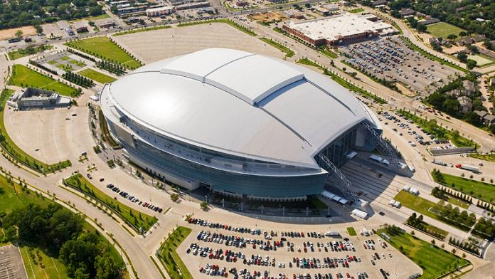 new dallas cowboys stadium aerial biggest dome What Costs $1.3 Billion, Holds 111,000 people and Has the Worlds Biggest TV?