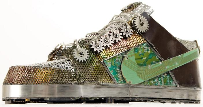 nike dunk made of junk gabriel dishaw Nike Shoes Made of Junk, Become Art
