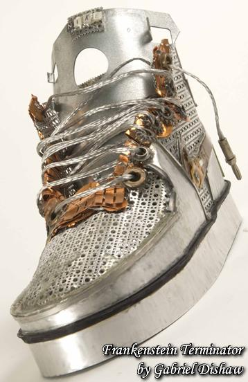 nike shoe made from discarded machine parts gabriel dishaw Nike Shoes Made of Junk, Become Art
