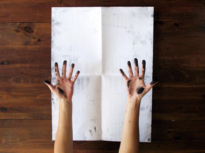 poster with invisible message needs ink Get Your Hands Dirty: Poster Requires Ink To Reveal Message