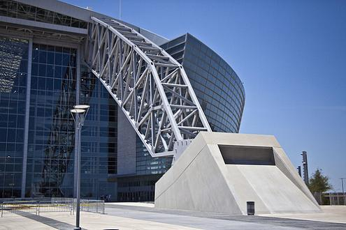the arches at new dallas cowboys stadium 300 feet tall What Costs $1.3 Billion, Holds 111,000 people and Has the Worlds Biggest TV?
