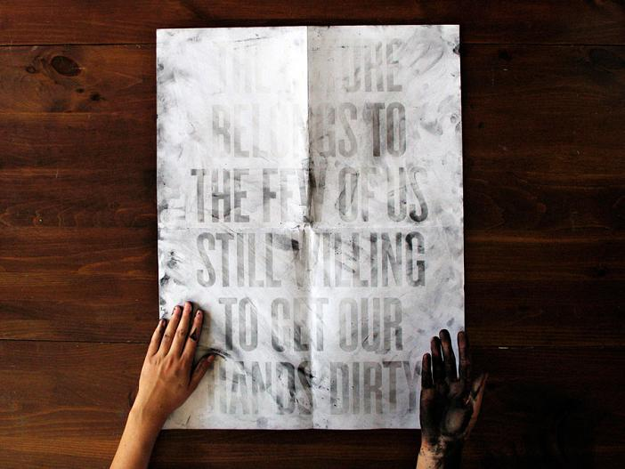 the future belongs to us roland tiangco Get Your Hands Dirty: Poster Requires Ink To Reveal Message