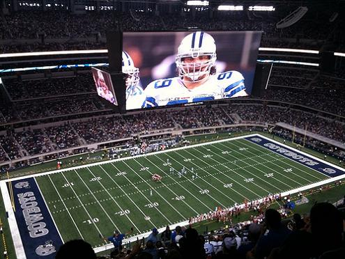 worlds biggest hdtv cowboys stadium What Costs $1.3 Billion, Holds 111,000 people and Has the Worlds Biggest TV?