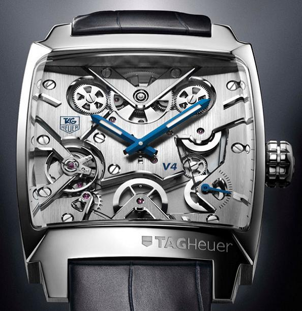 belt driven watch monaco v4 tag heuer Gears of Bore: The Worlds First Belt Driven Watch