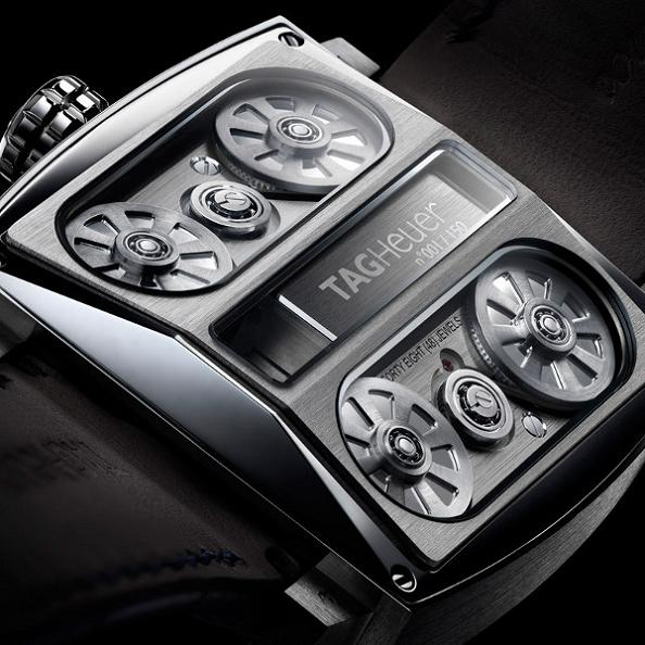 car engine watch tag heuer monaco v4 Gears of Bore: The Worlds First Belt Driven Watch