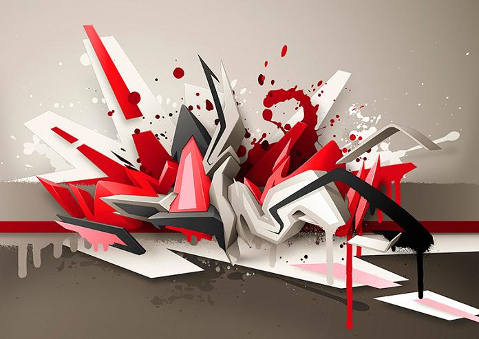 daim 3d lettering 3D INSANITY With Only Four Letters
