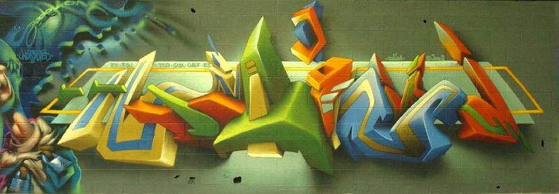 daim graffiti art mural THE WAR IS ON: Natures Revenge by Ludo