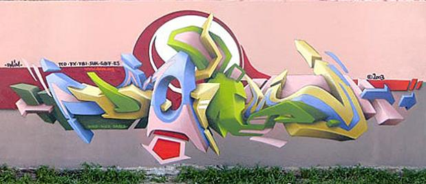 daim graffiti1 3D INSANITY With Only Four Letters