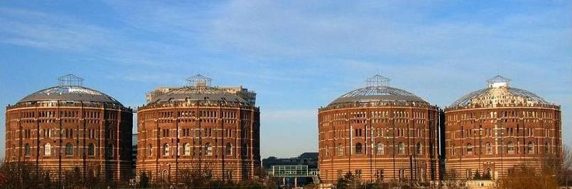 g city the gasometers of vienna conversion gas tanks Converting a Church Into a Family Home