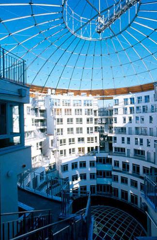 gas tank housing vienna Industrial Renovation: The Gasometers of Vienna