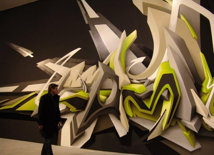 graf daim spraypaint 3D INSANITY With Only Four Letters