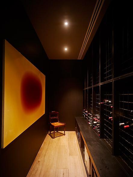 long narrow wine cellar The Yarra House: Interior Design Inspiration