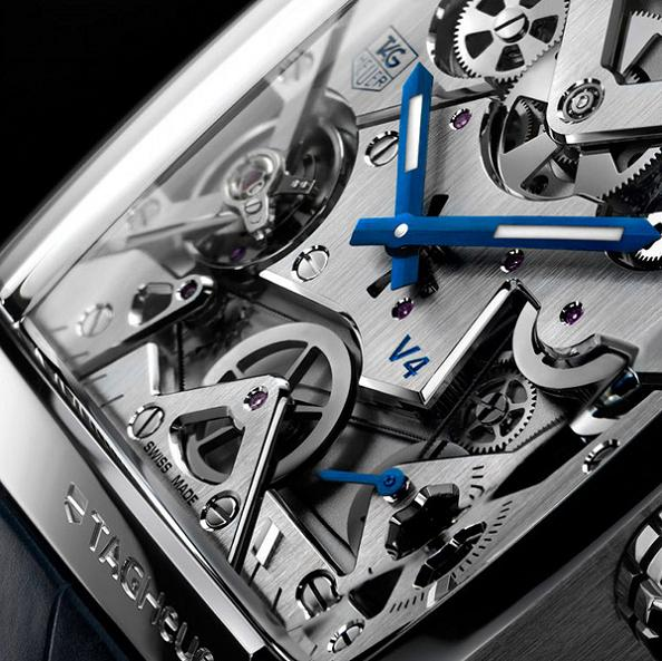 tag heuer monaco v4 belt drive watch Gears of Bore: The Worlds First Belt Driven Watch
