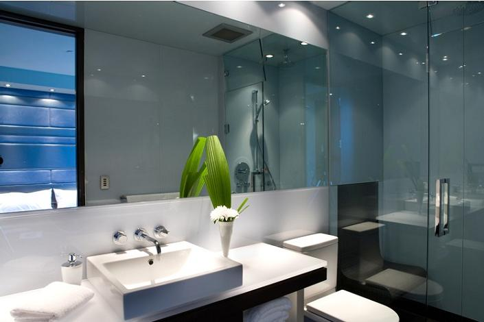 bathroom interior decorator interior design inspiration The $10 Million Aquarius Penthouse Feels Like a Nightclub