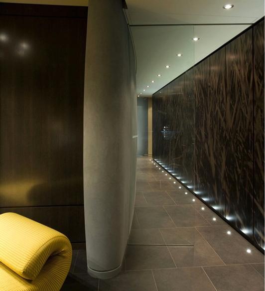 hallway design inspiration The $10 Million Aquarius Penthouse Feels Like a Nightclub