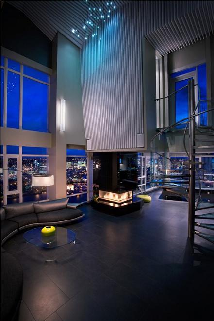 high ceilings condo penthouse vancouver The $10 Million Aquarius Penthouse Feels Like a Nightclub