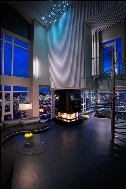 high ceilings condo penthouse vancouver The $10 Million Aquarius Penthouse Feels Like a Nightclub