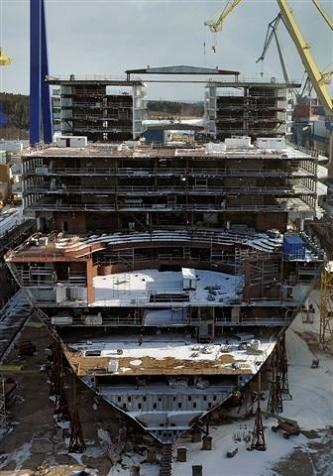 The Largest Cruise Ship in the World is Five Times the ... Oasis Of The Seas Construction