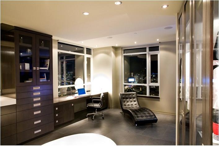 luxury condo apartment office penthouse The $10 Million Aquarius Penthouse Feels Like a Nightclub