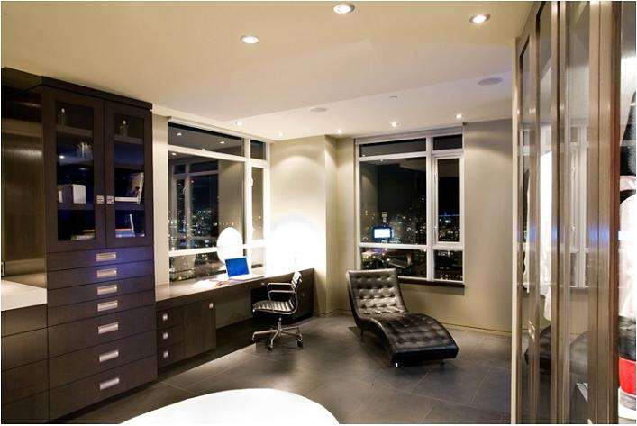 luxury condo apartment office penthouse The $10 Million Aquarius Penthouse Feels Like a Nightclub