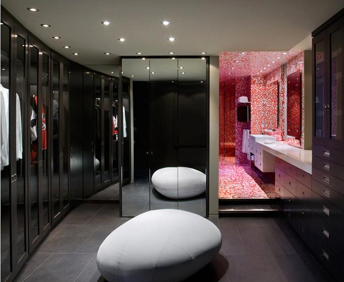 luxury walk in closet dressing room penthouse vancouver The $10 Million Aquarius Penthouse Feels Like a Nightclub