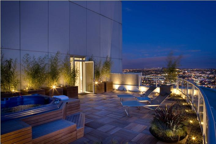 private terrace rooftop patio condo penthouse vancouver The $10 Million Aquarius Penthouse Feels Like a Nightclub