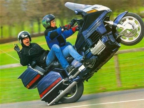 touring motorcycle wheelie Picture of the Day   November 29, 2009