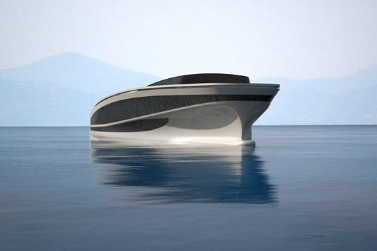 wally hermes yacht concept drawing Re Imagining the Super Yacht: Wally Hermès Yachts