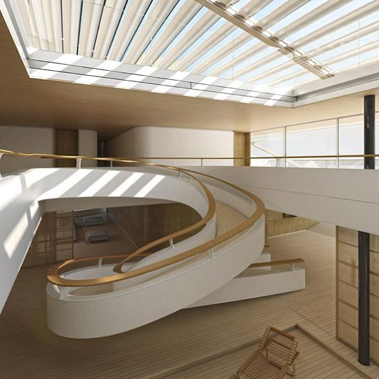 why interior wally hermes yacht spiral staircase Re Imagining the Super Yacht: Wally Hermès Yachts