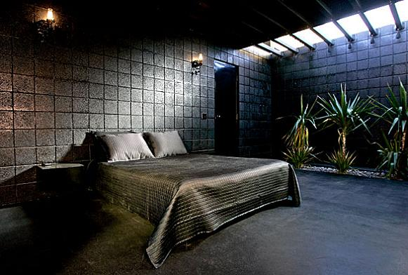all black bedroom interior design interior decorating What Happens When a Punk Rocker Designs a Desert Home?